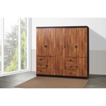 凱爾 7 X 7尺雙色衣櫥(積層色)