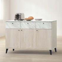 白橡色4尺餐櫃/碗盤櫃(下座)(B202)