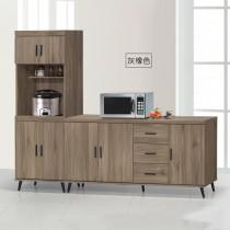 灰橡7尺耐磨L型餐櫃/碗盤櫃(6026+6029)(共兩色)