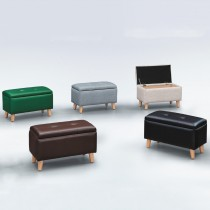 強韌透氣皮收納短凳(SF06)(共五色)