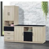 亞倫7.3尺L型石面餐櫃/碗盤櫃(712)
