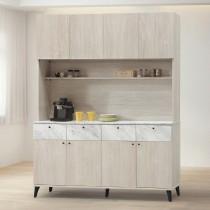 白橡色5尺餐櫃/碗盤櫃(全組)(B303)